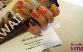 Трафареты для дизайна ногтей — модный тренд 2016 года