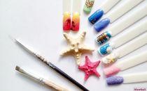 Дизайн ногтей|морская тема