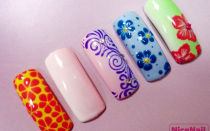 Весенний дизайн ногтей на типсах