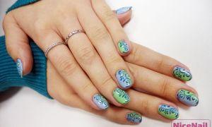 Весенний дизайн ногтей. Градиент гель-лаком