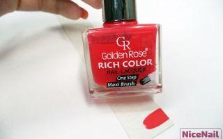 Обзор лака Golden Rose RICH COLOR оттенка №17